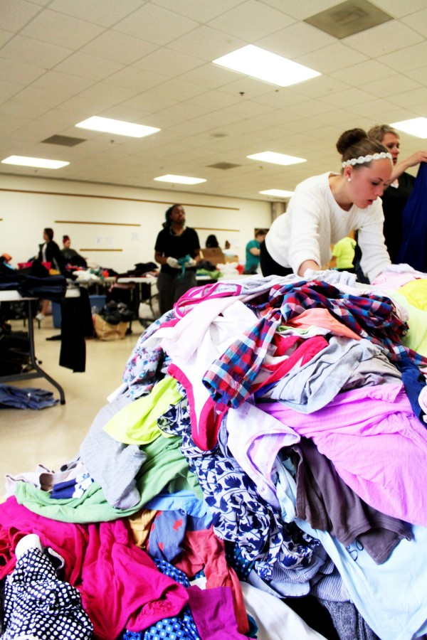 nonprofit organization the beautiful exchange donates clothes to young girls in need.