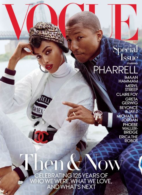 Pharrel Takes the Cover of Vogue: It's Beautiful & He Still Hasn't Aged